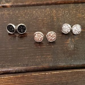 Jewelry - 😍 Awesome Value! 3 Neutral colors, 8mm Earrings